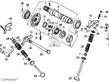 Honda Gb500 Tourist Trophy 1989 Usa Camshaft