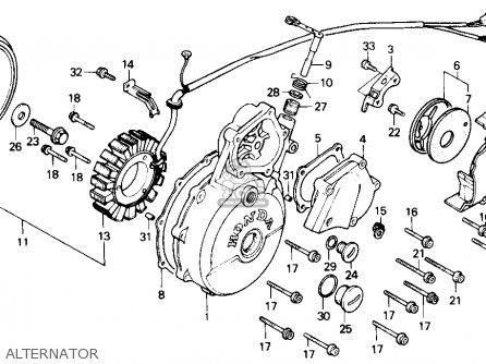 Honda Gb500 Touristtrophy 1989 k Usa California Alternator