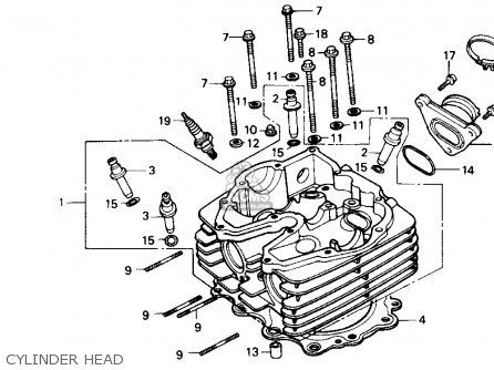 Honda Gb500 Touristtrophy 1989 k Usa California Cylinder Head