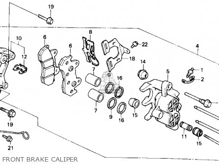 Honda Gb500 Touristtrophy 1989 k Usa California Front Brake Caliper