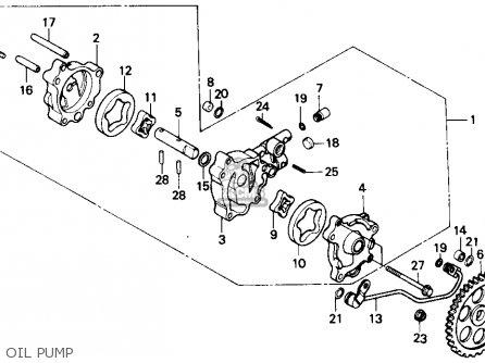 Honda Gb500 Touristtrophy 1989 k Usa California Oil Pump