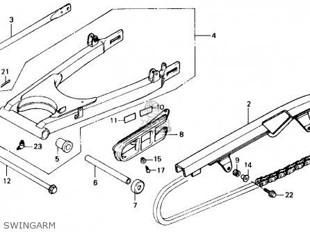 Honda Gb500 Touristtrophy 1989 k Usa California Swingarm