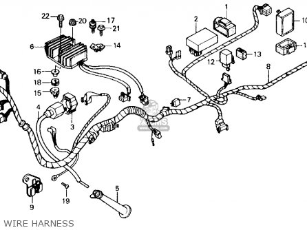 Honda Gb500 Touristtrophy 1989 k Usa California Wire Harness