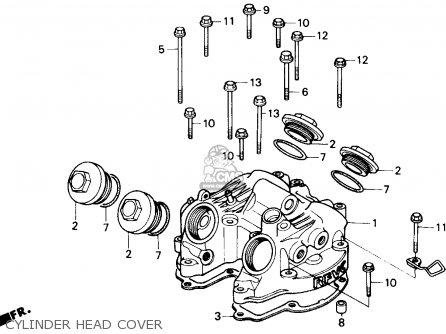 Honda Gb500 Touristtrophy 1989 k Usa Cylinder Head Cover