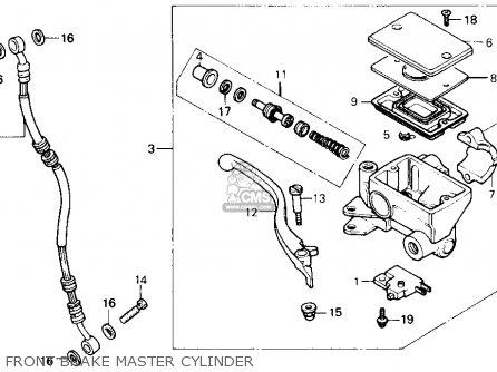 Honda Gb500 Touristtrophy 1989 k Usa Front Brake Master Cylinder