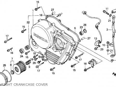 Honda Gb500 Touristtrophy 1989 k Usa Right Crankcase Cover