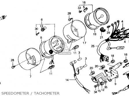 Honda Gb500 Touristtrophy 1989 k Usa Speedometer   Tachometer