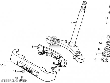 Honda Gb500 Touristtrophy 1989 k Usa Steering Stem