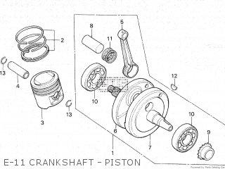 Honda Gl100 1981 b Malaysia E-11 Crankshaft - Piston