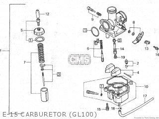 Honda Gl100 1981 b Malaysia E-15 Carburetor gl100
