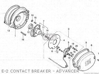 Honda Gl100 1981 b Malaysia E-2 Contact Breaker - Advancer