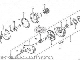 Honda Gl100 1981 b Malaysia E-7 Oil Pump - Filter Rotor