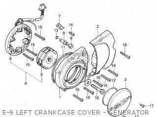 Honda Gl100 1981 b Malaysia E-9 Left Crankcase Cover - Generator