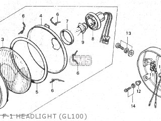 Honda Gl100 1981 b Malaysia F-1 Headlight gl100
