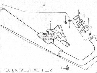 Honda Gl100 1981 b Malaysia F-16 Exhaust Muffler