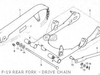 Honda Gl100 1981 b Malaysia F-19 Rear Fork - Drive Chain