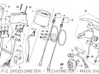 Honda Gl100 1981 b Malaysia F-2 Speedometer - Techometer - Main Switch gl100