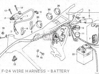 Honda Gl100 1981 b Malaysia F-24 Wire Harness - Battery