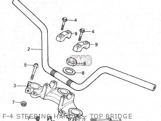 Honda Gl100 1981 b Malaysia F-4 Steering Handle - Top Bridge