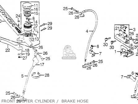 Honda Gl1000 Gold Wing 1976 Usa Front Master Cylinder    Brake Hose