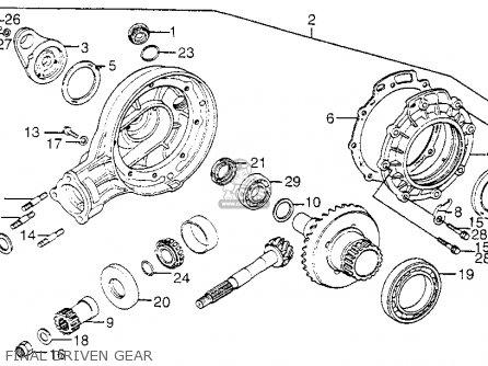 honda gl1000 goldwing ltd 1976 usa parts list partsmanual