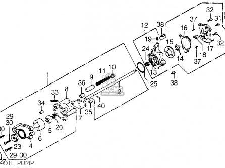 honda gl1000 goldwing 1976 usa parts lists and schematics oil pump