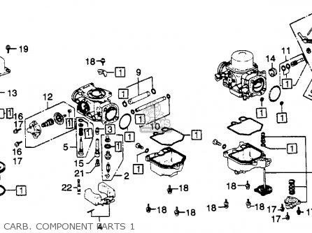 Honda Gl1100 Goldwing 1980 a Usa Carb  Component Parts 1