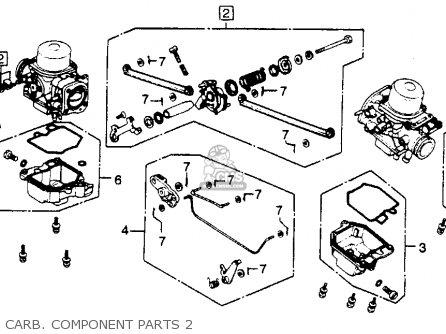 Honda Gl1100 Goldwing 1980 a Usa Carb  Component Parts 2