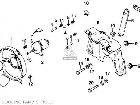 Honda Gl1100 Goldwing 1980 a Usa Cooling Fan   Shroud