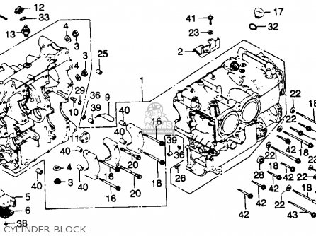 Honda Gl1100 Goldwing 1980 a Usa Cylinder Block