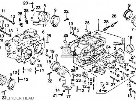 Honda Gl1100 Goldwing 1980 a Usa Cylinder Head