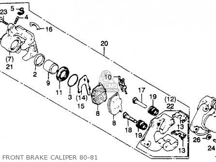 Honda Gl1100 Goldwing 1980 a Usa Front Brake Caliper 80-81