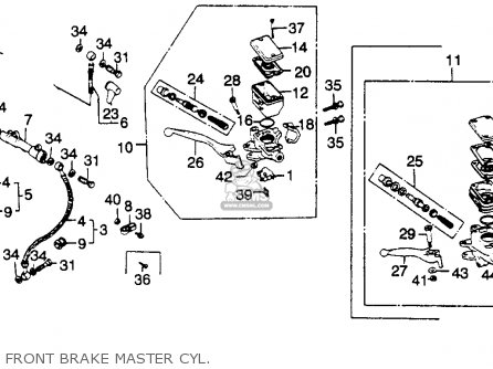 Honda Gl1100 Goldwing 1980 a Usa Front Brake Master Cyl