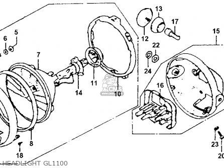 Honda Gl1100 Goldwing 1980 a Usa Headlight Gl1100