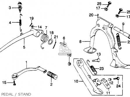 Honda Gl1100 Goldwing 1980 a Usa Pedal   Stand