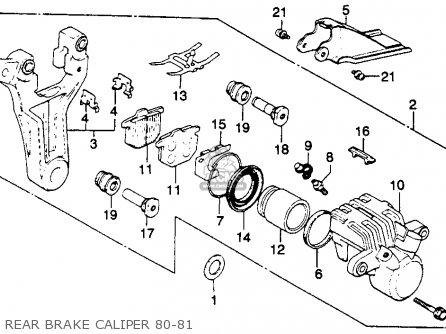 Honda Gl1100 Goldwing 1980 a Usa Rear Brake Caliper 80-81