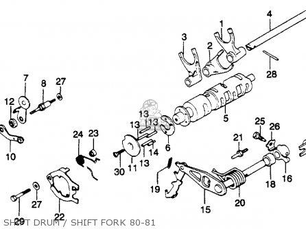 Honda Gl1100 Goldwing 1980 a Usa Shift Drum   Shift Fork 80-81