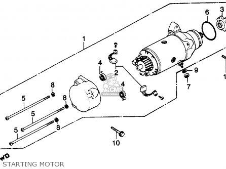 Honda Gl1100 Goldwing 1980 a Usa Starting Motor