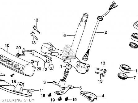 Honda Gl1100 Goldwing 1980 a Usa Steering Stem
