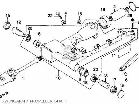 Honda Gl1100 Goldwing 1980 a Usa Swingarm   Propeller Shaft
