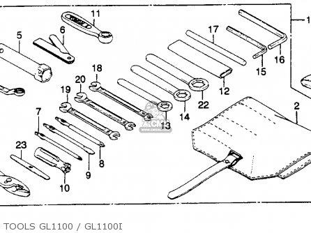 Honda Gl1100 Goldwing 1980 a Usa Tools Gl1100   Gl1100i