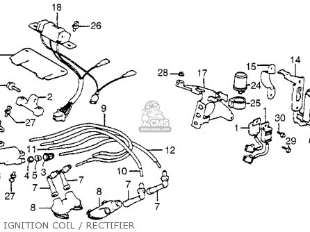 Honda Gl1100 Gold Wing 1982 Usa Ignition Coil Rectifier Schematic on alfa romeo wiring diagram