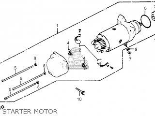 honda gl1100 goldwing aspencade 1983  d  usa parts list starter wiring diagram