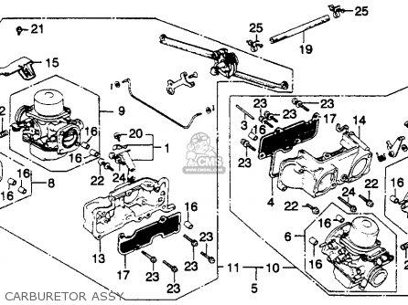 honda gl1100a goldwing aspencade 1982  c  usa parts lists