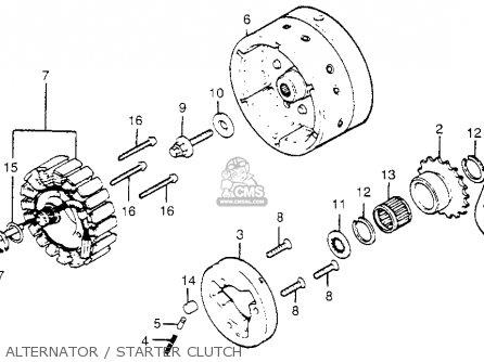 Honda Gl1100i Goldwing Interstate 1983 d Usa Alternator   Starter Clutch