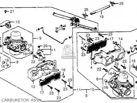 Honda Gl1100i Goldwing Interstate 1983 d Usa Carburetor Assy