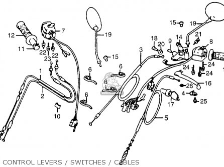 Honda Gl1100i Goldwing Interstate 1983 d Usa Control Levers   Switches   Cables