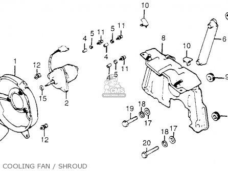 Honda Gl1100i Goldwing Interstate 1983 d Usa Cooling Fan   Shroud