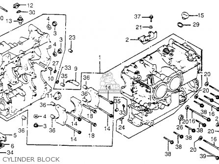 Honda Gl1100i Goldwing Interstate 1983 d Usa Cylinder Block