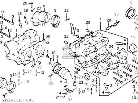 Honda Gl1100i Goldwing Interstate 1983 d Usa Cylinder Head